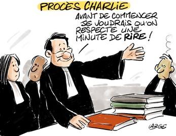 « Procès de Charlie Hebdo : Avant de commencer, je voudrais qu'on respecte une minute de rire ! »