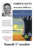 Fabrice Sluys à l'Espace Culturel Leclerc de St Médard en Jalles le 1er octobre