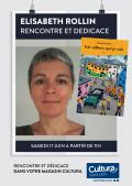 Élisabeth Rollin au cultura de Portet sur Garonne (31) le samedi 17 juin