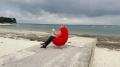 Fabienne Thomas le 22 juillet 2017 à Saint-Pierre de Quiberon pour Quai des écrivains