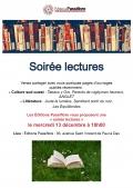 Soirée lectures chez Passiflore le 13 décembre à partir de 18h