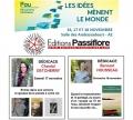 """Les éditions Passiflore et leurs auteurs au salon """"Les idées mènent le monde"""" à Pau du 16 au 18 novembre 2018"""