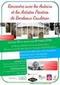 Marie-Laure Hubert Nasser aux Rencontres avec les auteurs et les artistes peintres de Bordeaux Caudéran le 30 mars