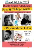 Un battle de dessinateurs avec Jean-Michel Lafon le 1er juin de 15h à 18h à Pugnac