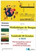 Bernard Housseau à la médiathèque de Bougue le vendredi 18 octobre à 18h30