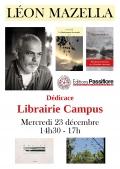 Léon Mazzella à la Librairie Campus le mercredi 23 décembre à partir de 14h30